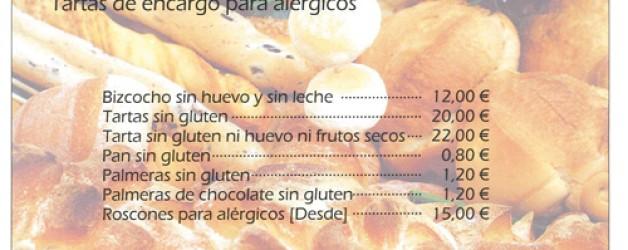 Información acuerdo pastelería productos para alérgicos