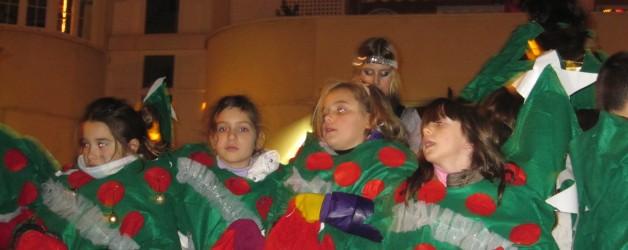 Participación de AMPA CEM Hipatia en la cabalgata de Reyes 2012 de Rivas