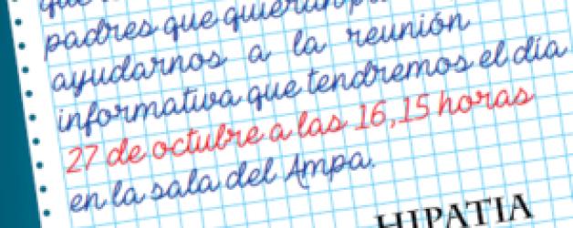 RECORDATORIO REUNIÓN CABALGATA REYES 2018 – 27 Octubre