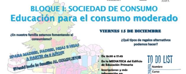 DINÁMICA: EDUCACIÓN PARA EL CONSUMO MODERADO – 15 DICIEMBRE 2017