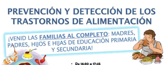 DINÁMICA: PREVENCIÓN Y DETECCIÓN DE LOS TRASTORNOS ALIMENTARIOS – 9 de marzo