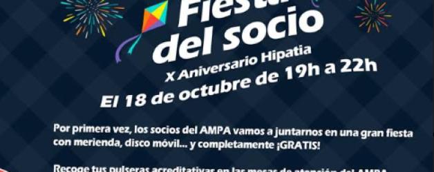 FIESTA SOCIO 2019 – X Aniversario Hipatia