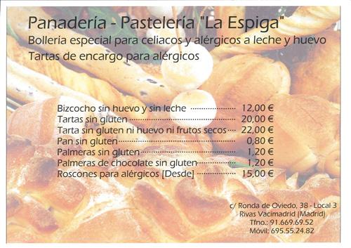 Precios pastelería especializada