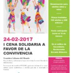 I CENA SOLIDARIA A FAVOR DE LA CONVIVENCIA – 24 DE FEBRERO
