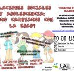 RELACIONES SOCIALES Y ADOLESCENCIA – VIERNES 24 DE MARZO